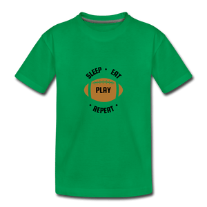 Sleep Eat Play Toddler Premium T-Shirt - kelly green