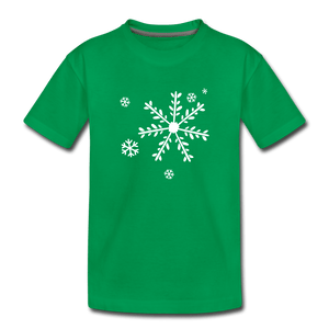 Snow Flakes Toddler Premium T-Shirt - kelly green
