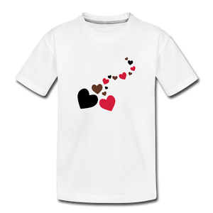 String of Hearts Toddler Premium T-Shirt - white
