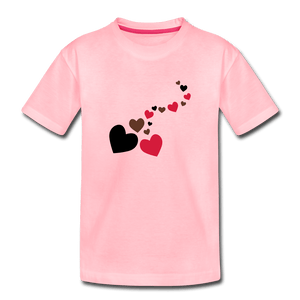String of Hearts Toddler Premium T-Shirt - pink