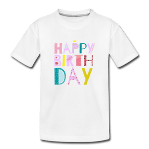 HBD Toddler Premium T-Shirt - white