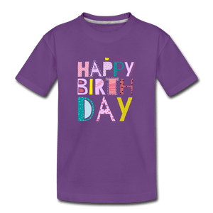 HBD Toddler Premium T-Shirt - purple