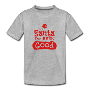 Dear Santa Toddler Premium T-Shirt - heather gray