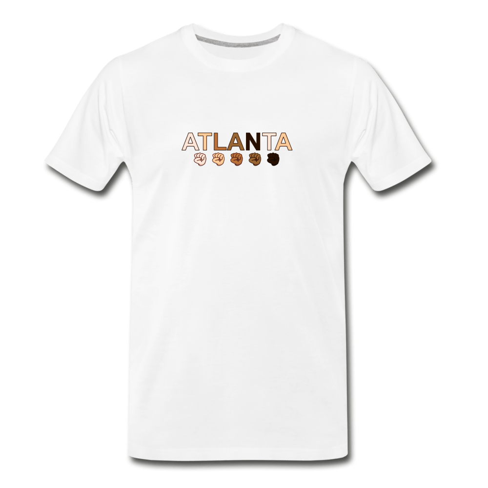 Atlanta Fist Men's Premium T-Shirt - white