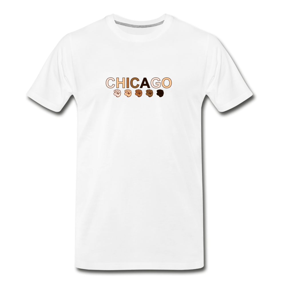 Chicago Men's Premium T-Shirt - white