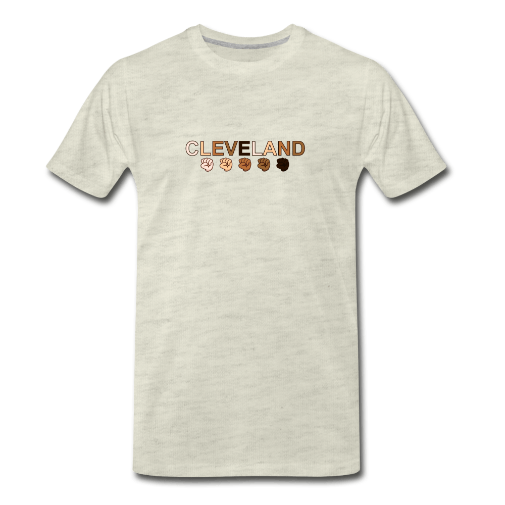 Cleveland Men's Premium T-Shirt - heather oatmeal