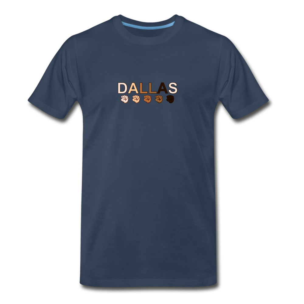Dallas Fist Men's Premium T-Shirt - navy