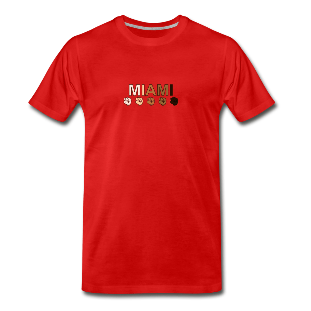 Miami Fist Men's Premium T-Shirt - red