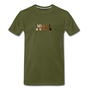 Miami Fist Men's Premium T-Shirt - olive green