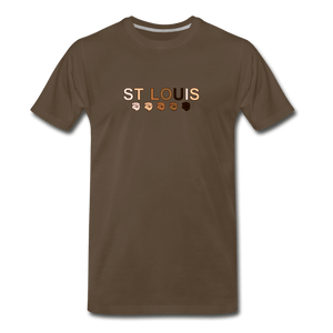 St Louis Men's Premium T-Shirt - noble brown