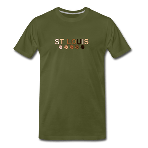 St Louis Men's Premium T-Shirt - olive green