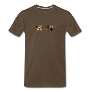 Sac Fist Men's Premium T-Shirt - noble brown