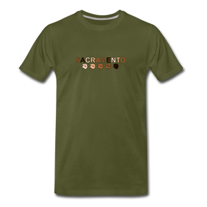 Sac Fist Men's Premium T-Shirt - olive green