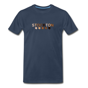 Stockton Fist Men's Premium T-Shirt - navy