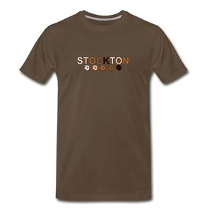 Stockton Fist Men's Premium T-Shirt - noble brown