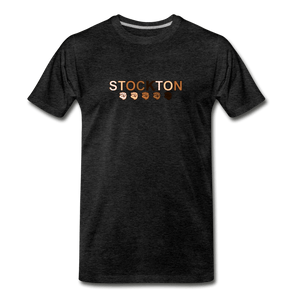 Stockton Fist Men's Premium T-Shirt - charcoal gray