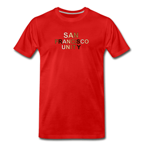 SF Unity Men's Premium T-Shirt - red
