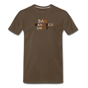 SF Unity Men's Premium T-Shirt - noble brown