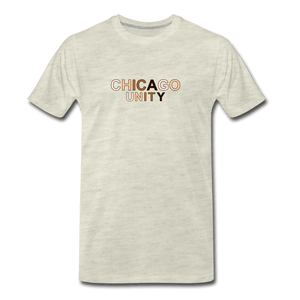 Chi Unity Men's Premium T-Shirt - heather oatmeal