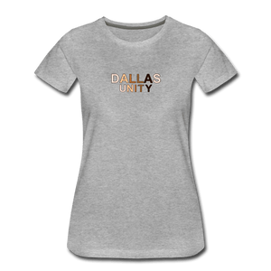 Dallas Unity Women's Premium T-Shirt - heather gray