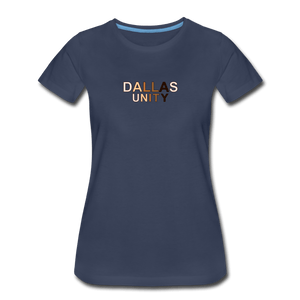 Dallas Unity Women's Premium T-Shirt - navy