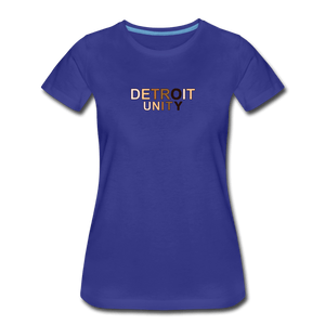 Detroit Unity Women's Premium T-Shirt - royal blue