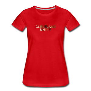 Cleveland Unity Women's Premium T-Shirt - red