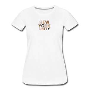 NYC Unity Women's Premium T-Shirt - white