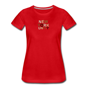 NYC Unity Women's Premium T-Shirt - red