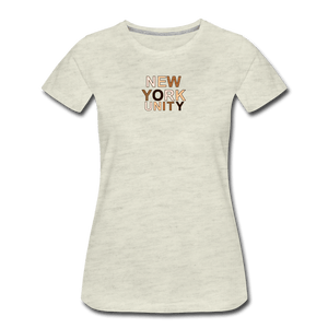 NYC Unity Women's Premium T-Shirt - heather oatmeal