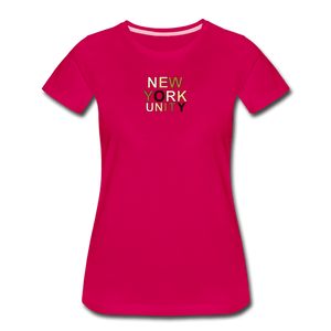 NYC Unity Women's Premium T-Shirt - dark pink