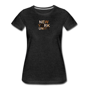 NYC Unity Women's Premium T-Shirt - charcoal gray