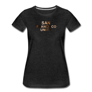 SF Unity Women's Premium T-Shirt - charcoal gray