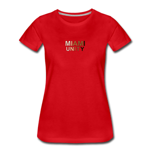 Miami Unity Women's Premium T-Shirt - red