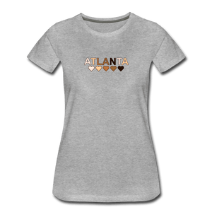Atl Hearts Women's Premium T-Shirt - heather gray