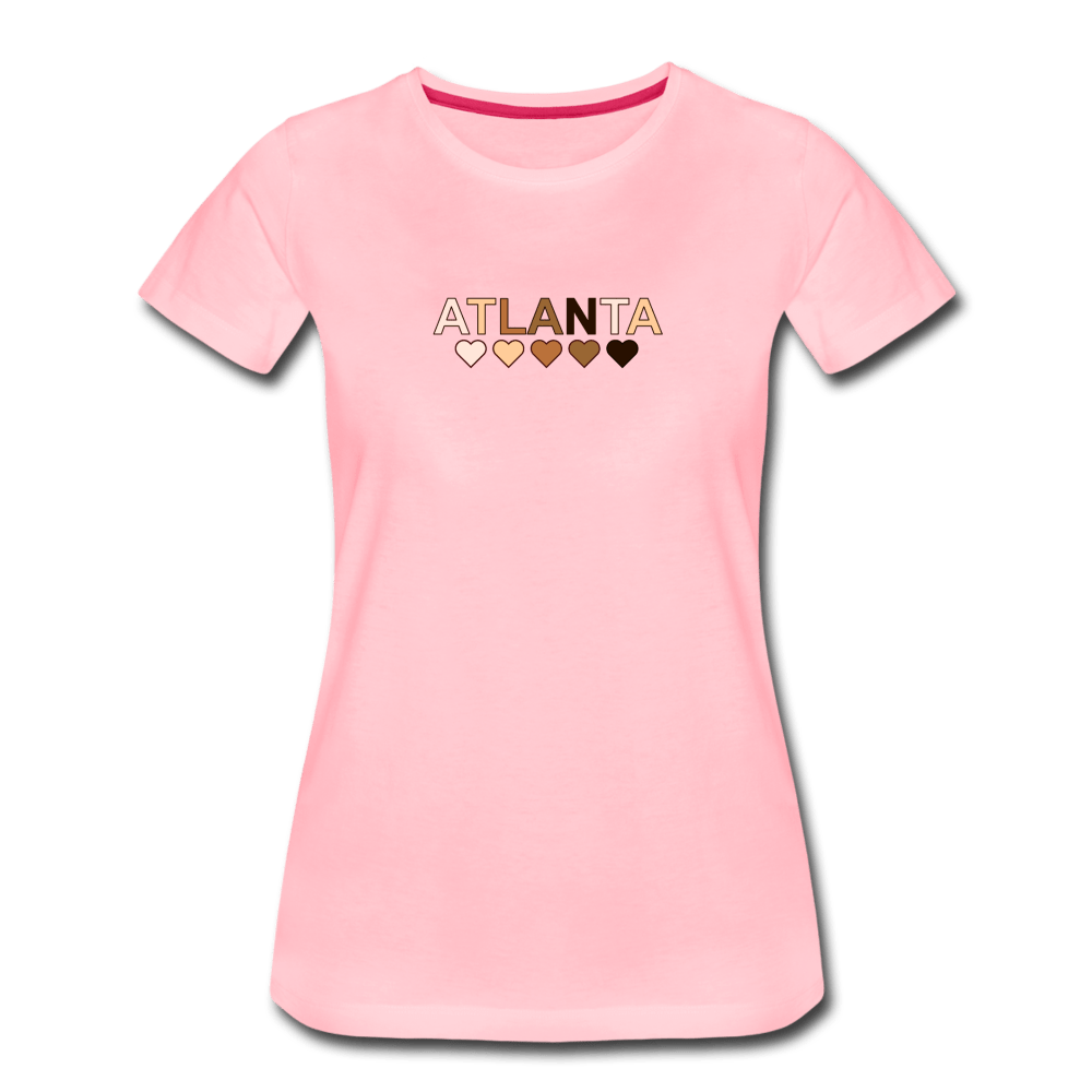 Atl Hearts Women's Premium T-Shirt - heather oatmeal