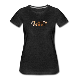 Atl Hearts Women's Premium T-Shirt - charcoal gray