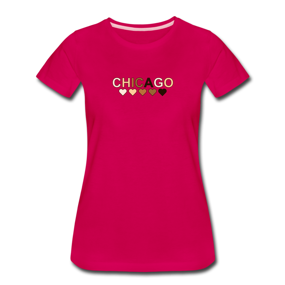 Chi Hearts Women's Premium T-Shirt - dark pink