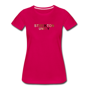 Stockton Unity Women's Premium T-Shirt - dark pink