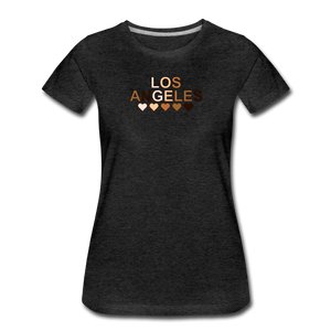LA Hearts Women's Premium T-Shirt - charcoal gray