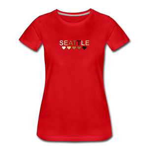 Seattle Hearts Women's Premium T-Shirt - red
