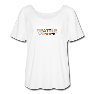 Seattle Women's Flowy T-Shirt - white