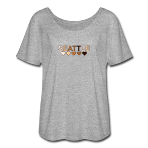 Seattle Women's Flowy T-Shirt - heather gray
