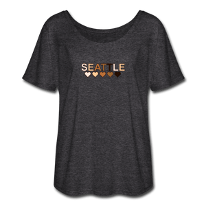 Seattle Women's Flowy T-Shirt - charcoal gray
