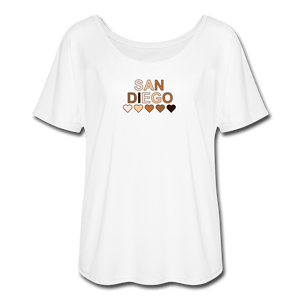 SD Hearts Women's Flowy T-Shirt - white