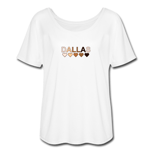 Dallas Hearts Women's Flowy T-Shirt - white