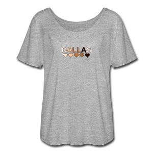 Dallas Hearts Women's Flowy T-Shirt - heather gray