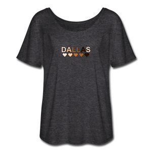 Dallas Hearts Women's Flowy T-Shirt - charcoal gray
