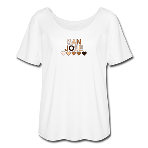 SJ Hearts Women's Flowy T-Shirt - white