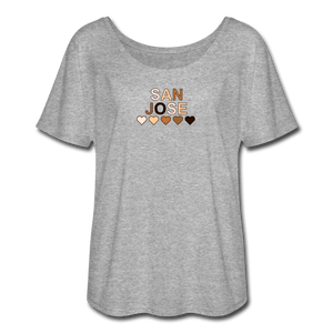 SJ Hearts Women's Flowy T-Shirt - heather gray